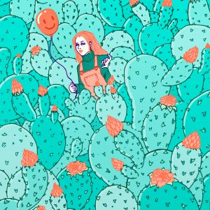 cactus pattern illustration